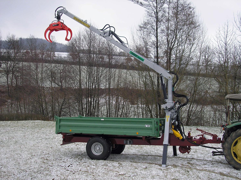 Prächtig ZEiER Forst-Geräte-Center - Einachs-Dreiseitenkipper mit Forstkran @PC_74
